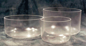 Clear Singing Crystal Bowls