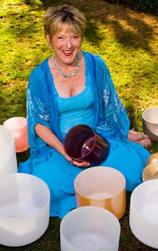 Elivia Melodey with Singing Crystal Bowls