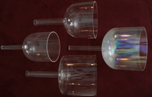 Hand-held singing crystal bowls