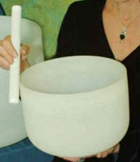 Mallet and Crystal bowl