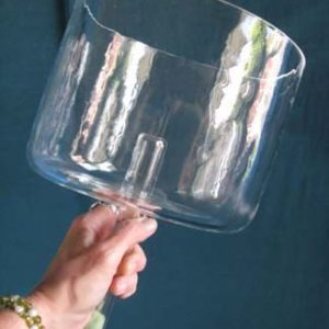 Deva's Gift Hand Held Singing Crystal Bowl – 8″ diameter
