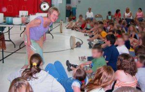 Elivia Speaking to Children