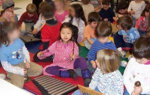 Little Girl Plying Xylophone